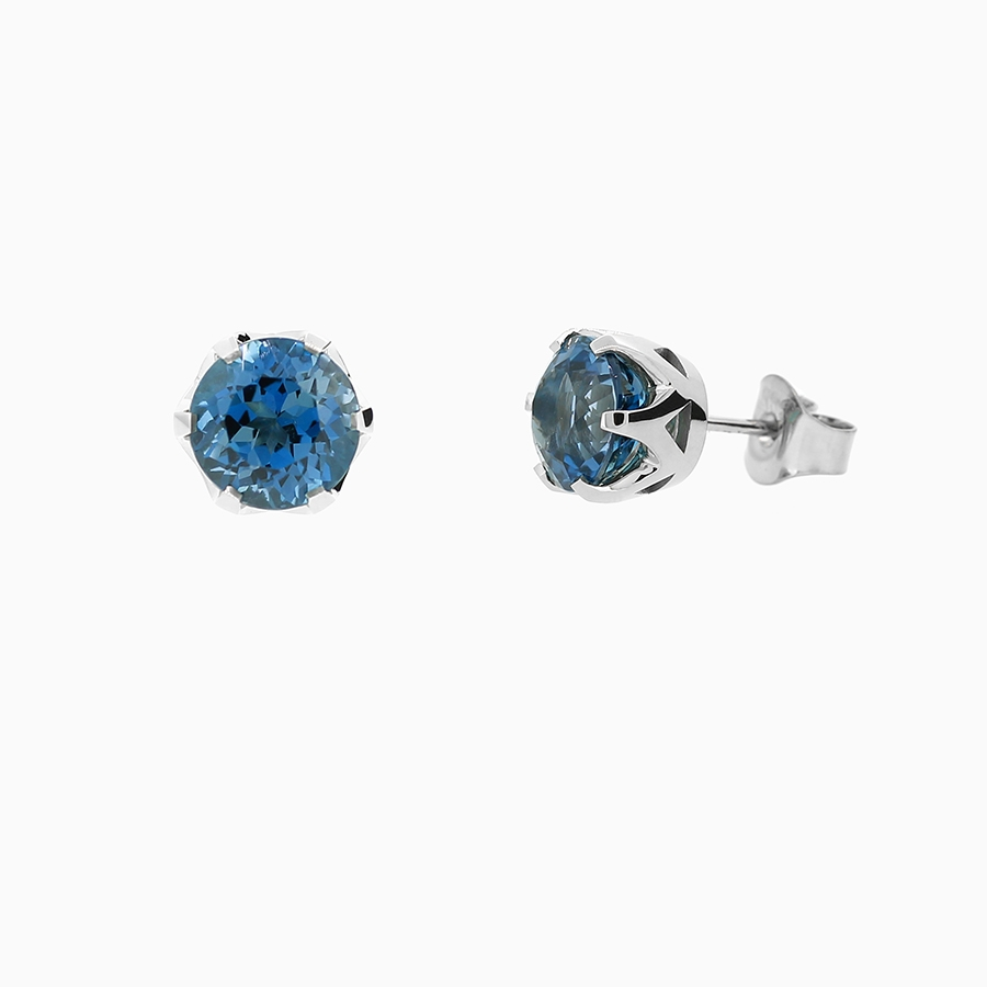 cw opal bling birthstone jewelry studs jf sterling round earrings s blue blu crown october stud silver
