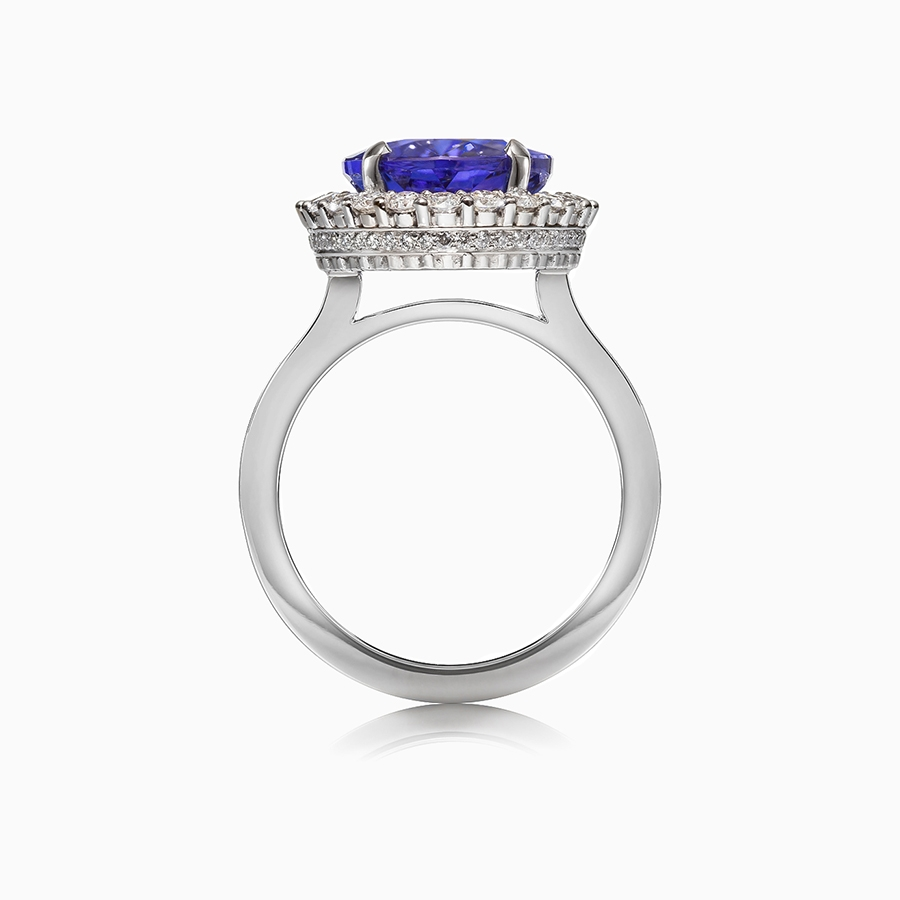 i dark gold and ring certified tanzanite gia white diamond