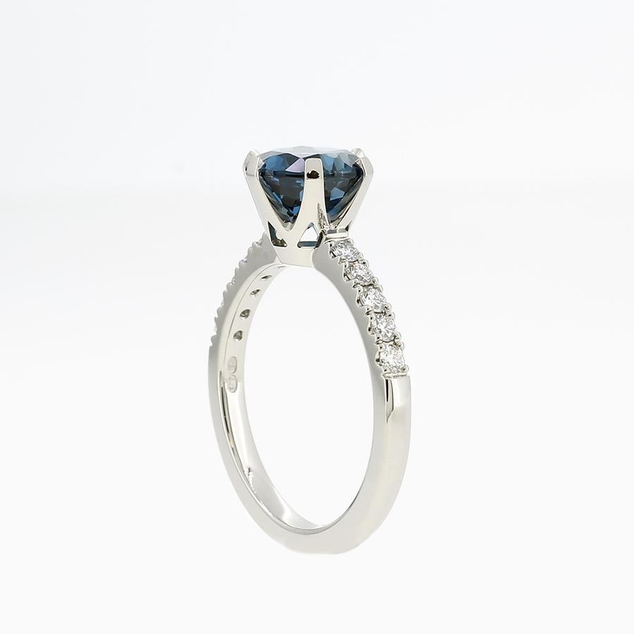 Crown Azura Ring Set With London Blue topaz / Rings - Torkkeli Jewellery