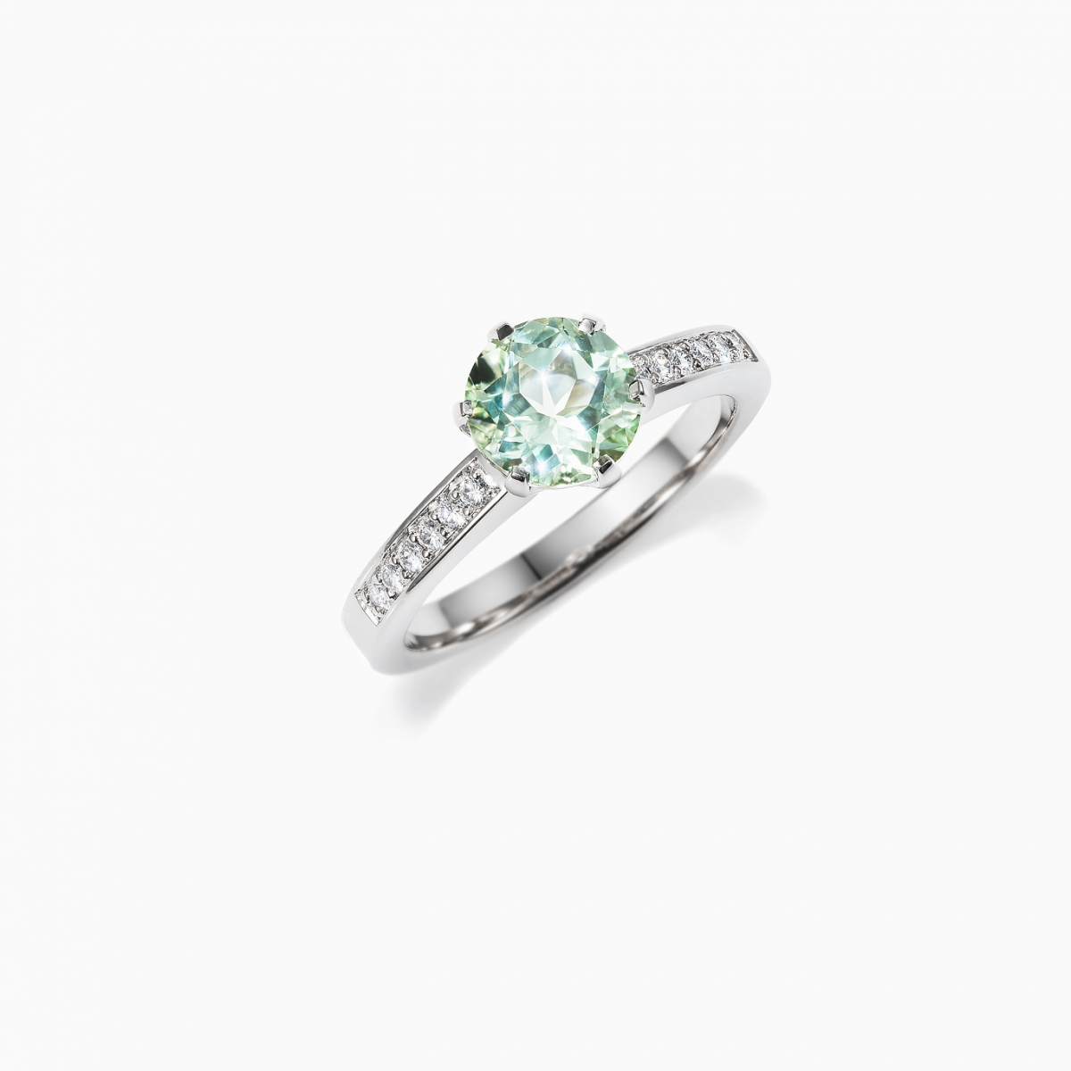 SALE Size 6, Petite Crown Engagement Ring