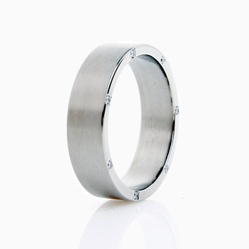 By Your Side Wedding Band With Diamonds In Palladium