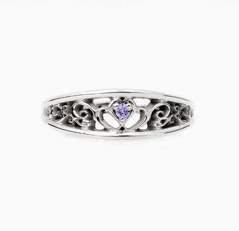 diamond ring gold cushion rings pin lavender on white purple sapphire blue engagement