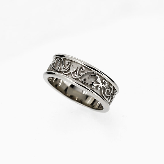 torkkeli filigree wedding ring in white gold 800mm - Filigree Wedding Rings